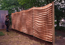 Now is ideas for decorating a wooden fence wood working the fence panels have been commissioned by architects landscapers workwithnaturefo